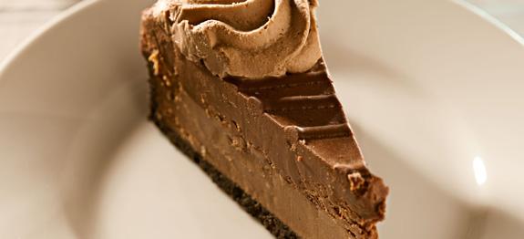 Cheesecake con cioccolato e crema alla nocciola