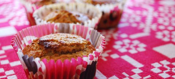 Muffin a base di carote e mandorle