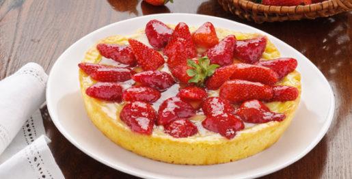 Crostata di fragole e marzapane