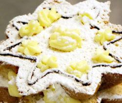 Panettone dolce farcito con crema pasticcera